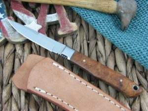 Moki Knives Bird and Trout Quince Wood AUS8 TS530J
