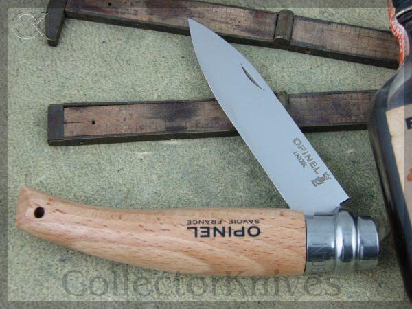 Opinel Garden Knife N08, Beech Wood Handles, 12c27 Sandvik Steel