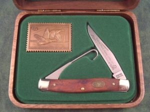 Schrade USA 1997 Duck Stamp Muskrat A