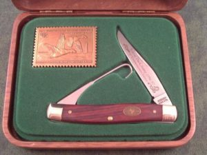 Schrade USA 1997 Duck Stamp Muskrat B