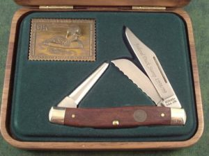 Schrade USA 1999 Duck Stamp Stockman A
