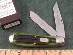 Schatt & Morgan Keystone Green Bone Swaybelly Trapper