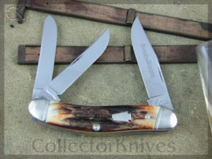 Schatt and Morgan Sowbelly Whittler Keystone O33160 Burnt Stag - NM