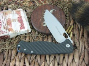 Viper Cutlery Fortis Framelock Drop Point Flipper Carbon Fiber handles M390 steel Satin 5950FC