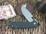 Viper Cutlery Fortis Framelock Drop Point Flipper Carbon Fiber handles M390 steel Stone Wash 5952FC