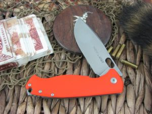 Viper Cutlery Fortis Framelock Drop Point Flipper Orange G10 handles M390 steel Stone Wash 5952GO