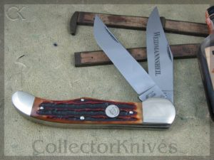 Weidmannsheil 2007 Amber Stag Bone Folding Hunter