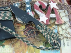 White River Knife Backpacker Black IonBond Camo Paracord CPM S30V WRBPCACBI