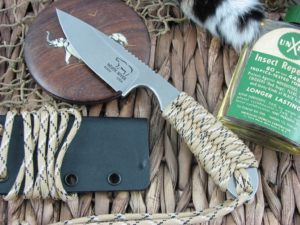 White River Knife Backpacker Stone Wash Desert Camo Paracord CPM S30V WRBPDC