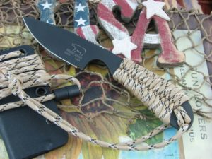 White River Knife Backpacker Black IonBond Desert Camo Paracord CPM S30V WRBPDCCBI