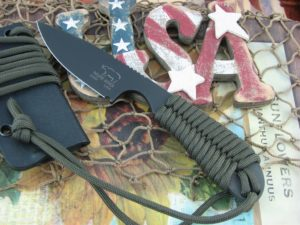 White River Knife Backpacker Black IonBond OD Paracord CPM S30V WRBPODCBI