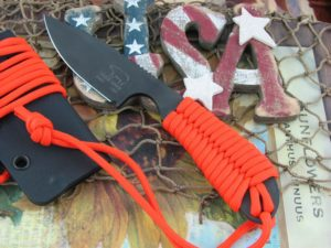 White River Knife Backpacker Black IonBond Orange Paracord CPM S30V WRBPORCBI