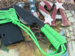 White River Knife Backpacker Black IonBond Reflective Green Paracord CPM S30V WRBPRGCBI