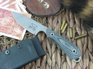 White River Knife Caper Stone Wash Black Canvas Micarta CPM S30V WRCPRBL