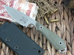 White River Knife Caper Stone Wash OD Canvas Micarta CPM S30V WRCPROD
