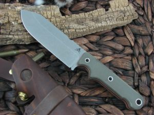 White River Knife Firecraft5 Stone Wash OD Canvas Micarta CPM S30V WRFC5
