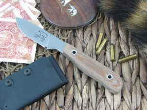 White River Knife Scout Stone Wash Natural Canvas Micarta CPM S30V WRSCTNA