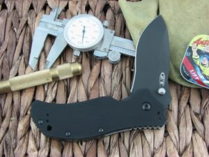 Zero Tolerance Knives Folder Black G10 S30V Black DLC Flipper and Stud Speedsafe 0350