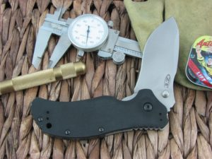 Zero Tolerance Knives Folder Black G10 S30V Stonewash Flipper and Stud Speedsafe 0350SW