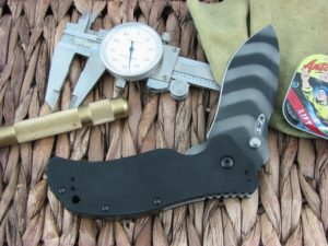 Zero Tolerance Knives Folder Black G10 S30V Tiger Stripe DLC Flipper and Stud Speedsafe 0350TS