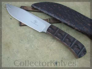 Arno Bernard Knives Elephant Giant, Crocodile Hide Handles, N690 steel
