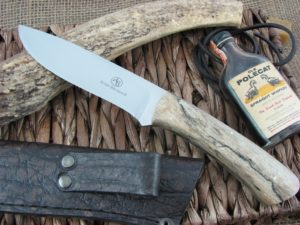 Arno Bernard Cutlery Buffalo Giant Spalted Maple handles N690 steel 1214