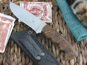 Arno Bernard Cutlery Hippo Giant Spalted Maple handles N690 steel 1314
