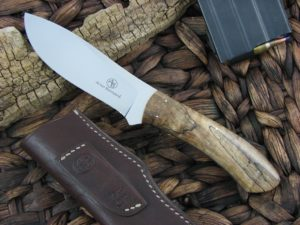 Arno Bernard Cutlery Giraffe Giant Spalted Maple handles N690 steel 1514