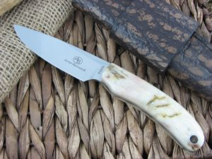 Arno Bernard Cutlery 2015 Feature Knife Predator Sheep Horn handles S35VN steel 15FK04