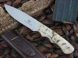 Arno Bernard Cutlery Cheetah Predator Sheep Horn handles N690 steel 2104