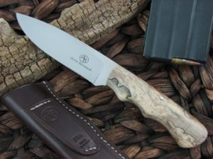 Arno Bernard Cutlery Predator Cheetah Spalted Maple Wood Handles N690 Steel 2114