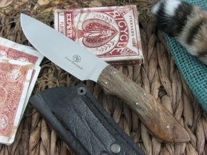 Arno Bernard Cutlery Predator Lion Spalted Maple Wood 2314
