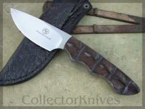 Arno Bernard Knives Great White Predator, Crocodile Hide Handles, N690 steel