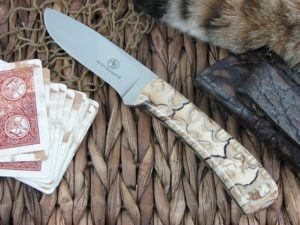 Arno Bernard Knives Kudu Grazer Mammoth Molar handles N690 steel 3413