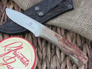 Arno Bernard Knives Kudu Grazer Spalted Maple handles N690 steel 3414