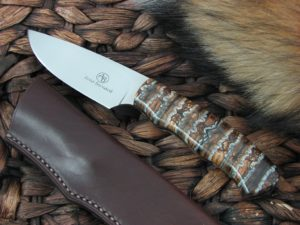 Arno BerThis is the Arno Bernard Cutlery Zebra Grazer, has Mammoth Molar handles and the steel is N690. The blade finish is Hand Polished.nard Cutlery Zebra Grazer Mammoth Molar handles N690 steel 3613