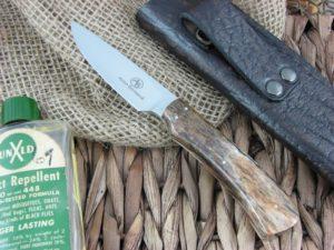 Arno Bernard Knives Jackal Scavenger Giraffe Bone handles N690 steel 4202