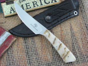 Arno Bernard Knives Wasp Scavenger Sheep Horn handles N690 steel 4504 2014 model