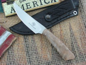 Arno Bernard Knives Wasp Scavenger Maple Burl handles N690 steel 4508 2014 Model