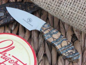 Arno Bernard Cutlery Meerkat Bush Baby Mammoth Molar handles N690 steel 5213