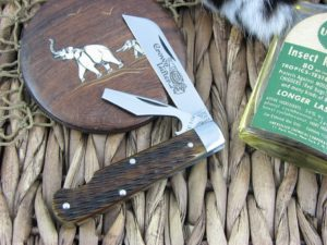 Great Eastern Cutlery Crown Lifter EZ Open Jack Tidioute Antique Yellow Bone 153216