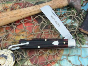 Great Eastern Cutlery Navy Jack GEC Burnt Orange Bone 15S116