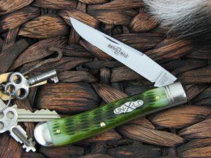 Great Eastern Cutlery Weasel Trapper Northfield Pickle Green Bone 488117