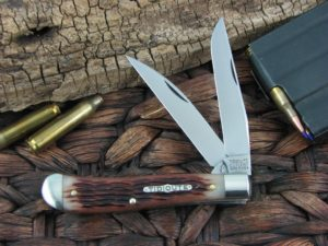 Great Eastern Cutlery Improved Trapper Tidioute Antique Amber Bone 488217
