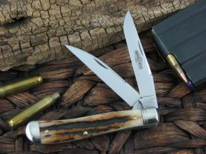 Great Eastern Cutlery Improved Trapper Northfield Sambar Stag 488217