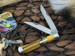 Great Eastern Cutlery Improved Trapper Tidioute Tiger Eye Acrylic 488217