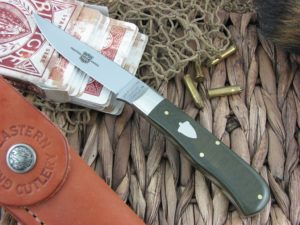 Great Eastern Cutlery Bird and Trout OD Linen Micarta H73116