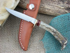 Hess Knifeworks Bird and Trout Crown Stag, 1095 steel
