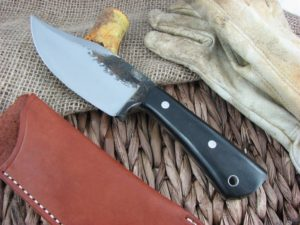 Lon Humphrey Brute De Forge Clip Point with Black Micarta handles and 1095 steel