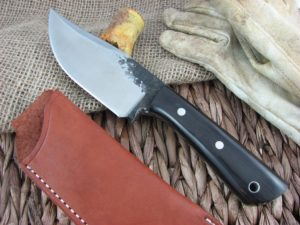 Lon Humphrey Brute De Forge Clip Point with Blackwood handles and 1095 steel